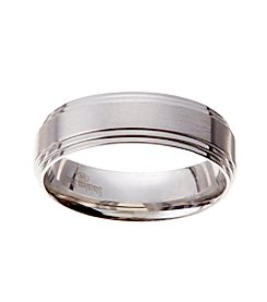 Glamour Rings 7mm Brushed Center Stainless Steel Band