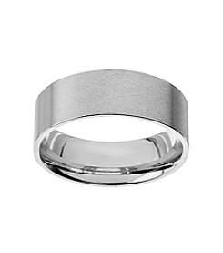 Glamour Rings Classic Stainless Steel Band In Brushed Finish