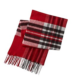 V. Fraas Big Plaid Scarf
