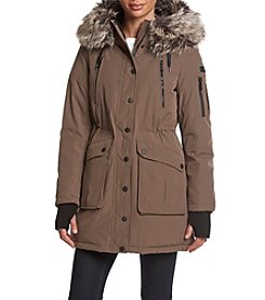 BCBG™ Faux Fur Trim Hooded Anorak Coat