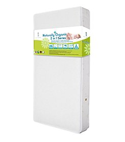 LA BABY Naturally Organic V Triple Zone 2-in-1 Crib Mattress with Breath Safe and Organic Cotton Cover