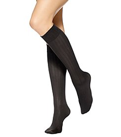 HUE® Cable/Ribbed/Opaque Knee High Sock