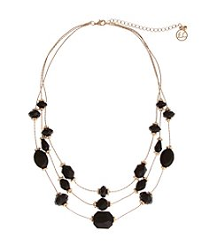Erica Lyons® Jet Bead Short Illusion Necklace