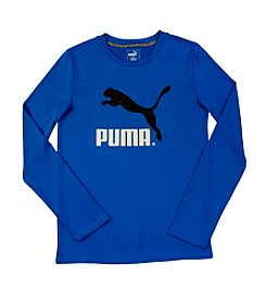 PUMA® Boys' 8-20 Long Sleeve Logo Tee