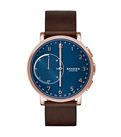 Skagen Men's 42mm Hagen Connected Rose Goldtone Hybrid Smartwatch