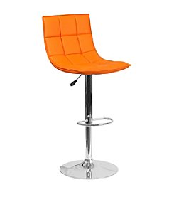 Flash Furniture Contemporary Quilted Adjustable Barstool