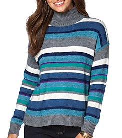 Chaps® Striped Turtleneck Sweater