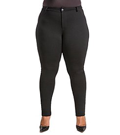 Poetic Justice® Plus Size Curvy Slim Leg Ponte Pants