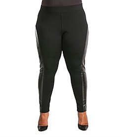 Poetic Justice® Plus Size Mackenzie Curvy Skinny Pull-On Ponte Pants