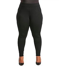 Poetic Justice® Plus Size Michelle Curvy Ponte Pants