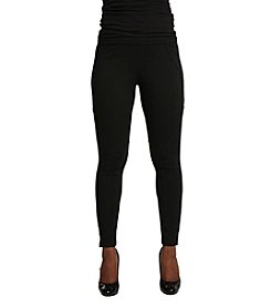 Poetic Justice® Michelle Curvy Ponte Leggings
