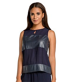 Standards & Practices Blake Sleeveless Keyhole Top