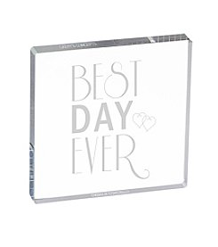 Cathy's Concepts Best Day Ever Acrylic Square Cake Topper
