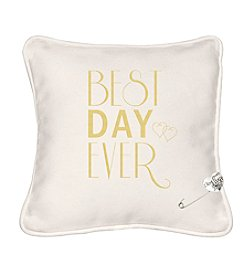 Cathy's Concepts Best Day Ever Ring Bearer Pillow with Heart Pin