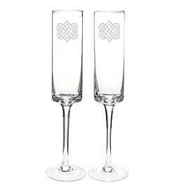 Cathy's Concepts Celtic Knot Champagne Flutes