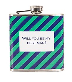 Cathy's Concepts Will You Be My Best Man? Patterned Flask