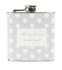 Cathy's Concepts Will You Be My Bridesmaid? Gatsby Flask