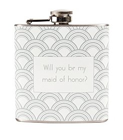 Cathy's Concepts Will You Be My Maid of Honor? Gatsby Flask