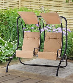 Sunjoy Sherborn Steel Porch Swing