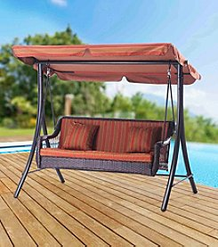 Sunjoy Curry Steel Porch Swing
