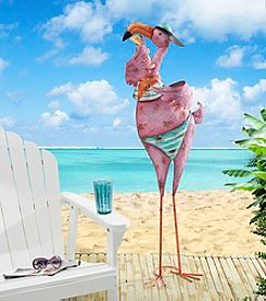 Sunjoy Attitude Flamingo Sculpture