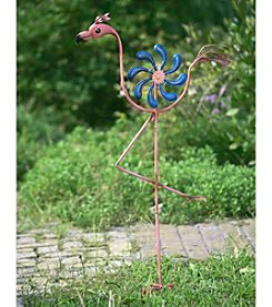 Sunjoy Flamingo Kinetic Wind Catcher Garden Stake