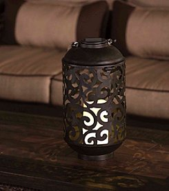 Sunjoy Solar LED Metal Lantern with Rope Handle