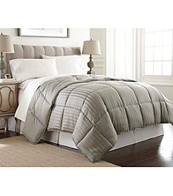 Pacific Coast Textiles® Dobby Stripe Reversible Down-Alternative Comforter