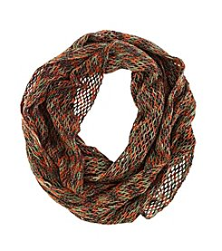 Steve Madden® Space Dyed Mini Fishnet Infinity Scarf