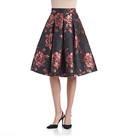 Eliza J® Floral Pleated Skirt