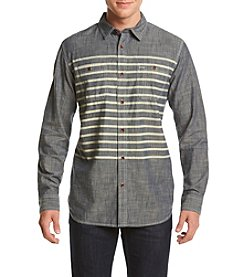 Ruff Hewn Men's Chambray Stripe Workshirt