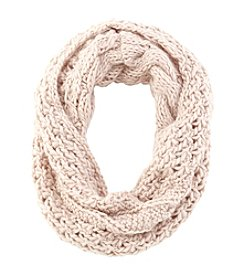 Collection 18 Popcorn Knit Loop Scarf