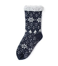 MUK LUKS Women's One Pair Fluffy Cabin Socks