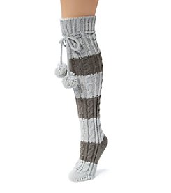 MUK LUKS Women's One-Pair Knee High Cable Socks