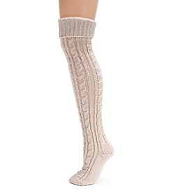 MUK LUKS Women's Cable Knit Over the Knee Socks