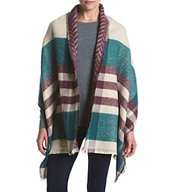 Ruff Hewn Border Plaid Blanket Scarf