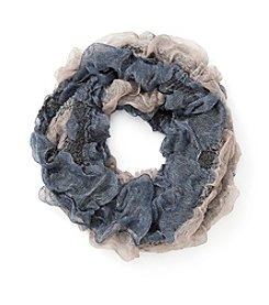 Cejon® Tufted Ruffle Loop Scarf