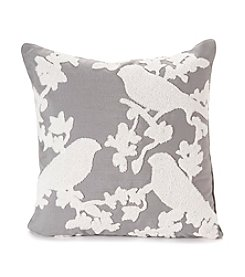 Towel Stitch Birds Decorative Pillow