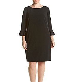Jessica Howard® Plus Size Flutter Sleeve Dress