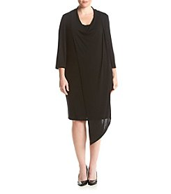 Gabby Skye® Plus Size Drape Knit Dress