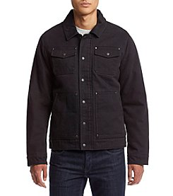 G.H. Bass & Co. Men's Cotton Canvas Two Pocket Lay Down Collar Depot Jacket