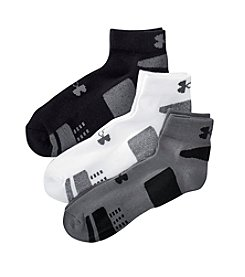 Under Armour® Men's Heatgear Low-Cut Socks 3-Pack