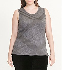 Lauren Ralph Lauren® Plus Size Metallic Plaid Sweater Tank