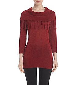 Studio Works® Cowl Neck Sweater With Fringe