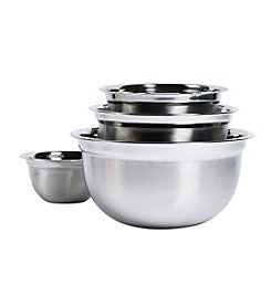 Basic Essentials 4-pc. Stainless Steel Mixing Bowl Set