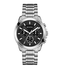 Bulova® Men's Classic Collection Black Dial Watch