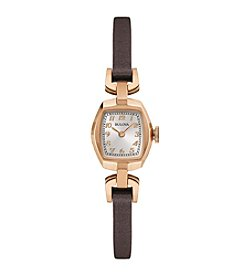 Bulova® Women's Leather Strap Watch
