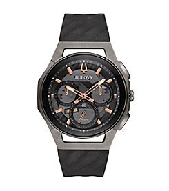 Bulova® Men's Curv Collection Dark Gray Watch