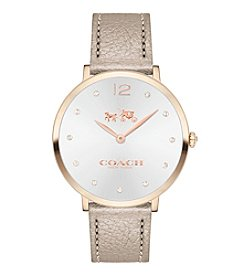COACH Women's 35mm Slim Easton Carnation Goldtone Sunray Dial Watch