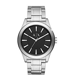 A|X Armani Exchange Stainless Steel Sunray Dial Watch